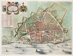 kaart Nederland vesting